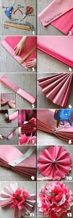 Diy Tissue Paper Crafts - diy easy tissue paper flower fabdiy