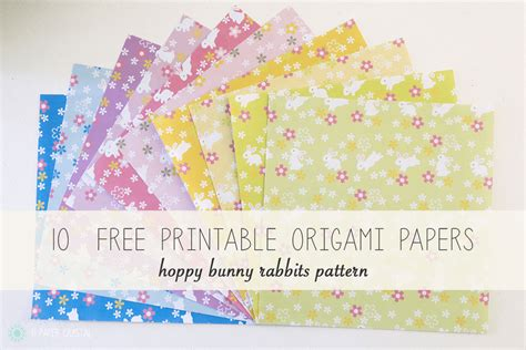 Free Printable Origami Paper - 10 free printable bunny rabbit origami papers