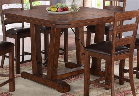 distressed dining room sets lanesboro distressed walnut counter height dining room set