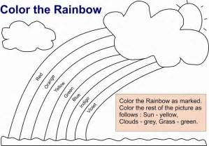 what color is the rainbow rainbow coloring pages for