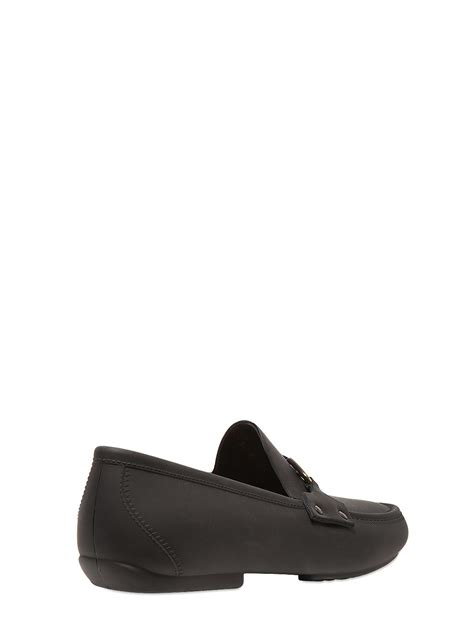 vivienne westwood loafers vivienne westwood safety pin rubber loafers in black for