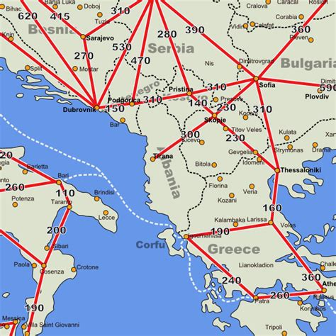 distance road map albania driving distance road map distances in albania