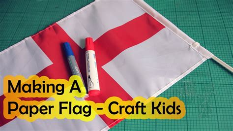 How To Make A Paper Flag - cool a paper flag make a flag craft