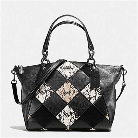 Coach Kelsey Small Patchwork 5 coach f57849 small kelsey satchel in snake embossed