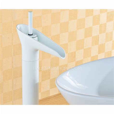 White Faucets Bathroom by Modern White Painting Wineglass Shaped Bathroom Faucet