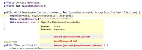 cannot resolve layoutinflater object in object cannot be applied while creating