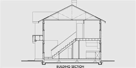 Two Story Craftsman Duplex House Plans Sections Elevations