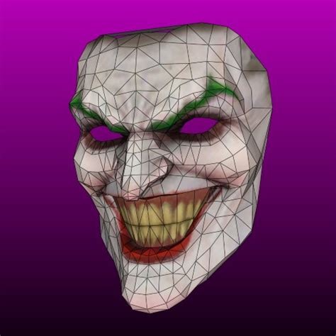 3d papercraft joker mask