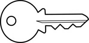 Key Outline Clip Free by Key Clip At Clker Vector Clip Royalty Free Domain