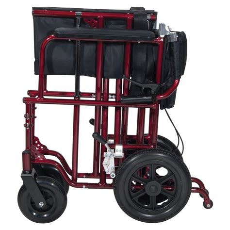 drive bariatric heavy duty aluminum transport chair