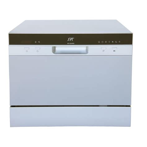 Spt Countertop Dishwasher Silver by Spt Countertop Dishwasher In Silver With Delay Start And 6