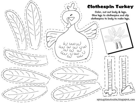 printable arts and crafts for thanksgiving thanksgiving