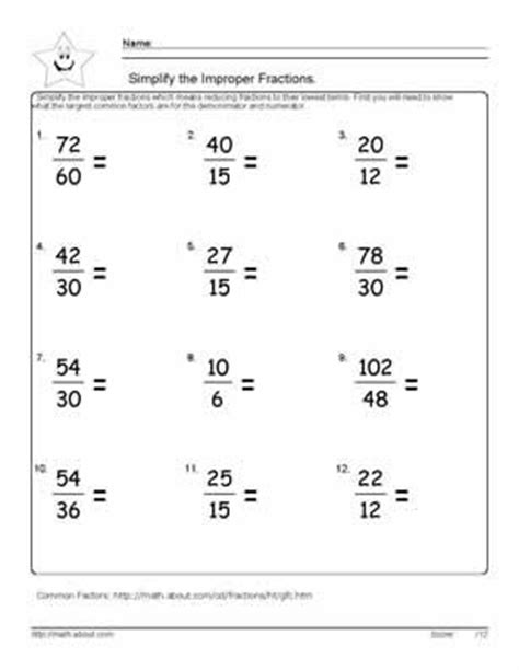 Math Worksheets Simplifying Fractions by 17 Best Ideas About Fractions Worksheets On