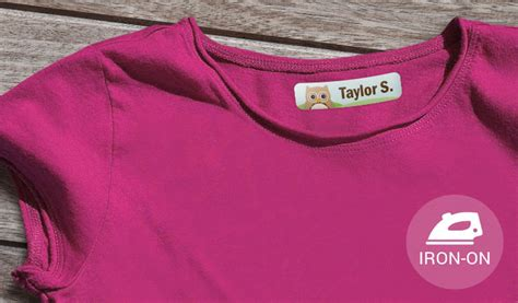 printable iron on labels for clothing kids iron on labels stickeryou products