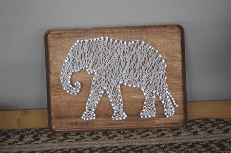 String Elephant - rustic elephant string
