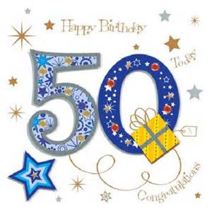 happy 50th birthday card happy 50th birthday greeting card by talking pictures