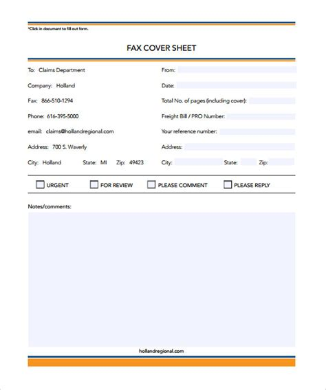 editable printable fax cover sheet 12 free fax cover sheet templates free sle exle