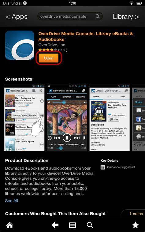 overdrive media console app nh downloadable books overdrive media console app on a