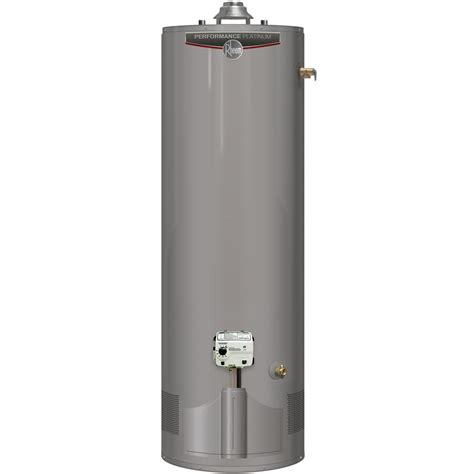 rheem 50 gallon gas water heater 12 year warranty rheem platinum 50 gal tall 12 year 38 000 btu