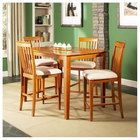 Pub Height Dining Chairs Atlantic Furniture Shaker 5 Pub Height Dining Set Ad841212xx