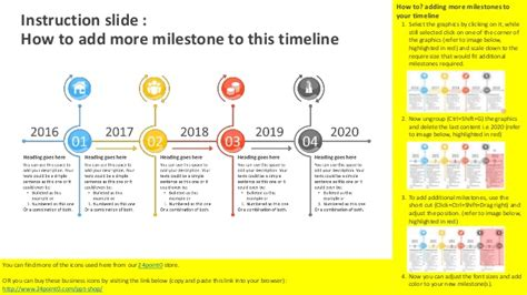 Timeline Project Plan Editable Powerpoint Template Project Milestone Template Ppt