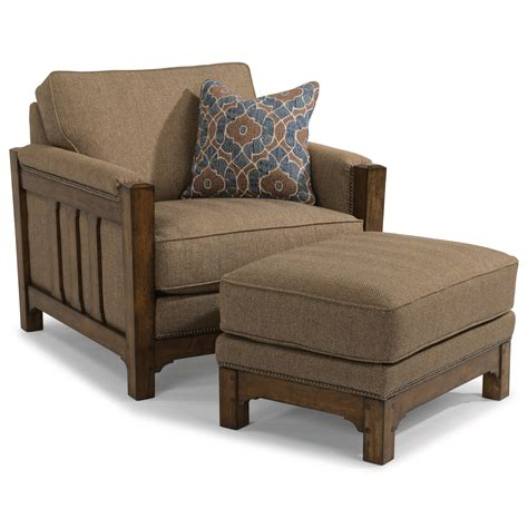 set with ottoman flexsteel sonora mission chair and ottoman set with