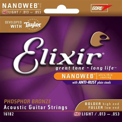 elixir phosphor bronze light elixir nanoweb light phosphor bronze acoustic guitar