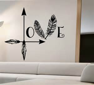Wall Stickers Art love arrow wall decal feather namaste vinyl sticker art