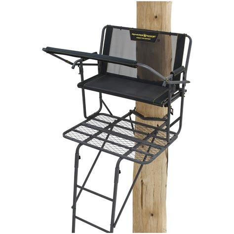rivers edge comfort tree seat rivers edge syct 2 man ladder tree stand 667259 ladder