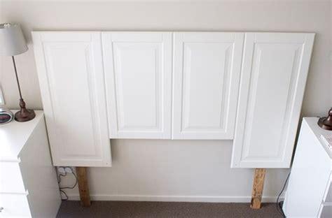 solid wood cabinet doors diy salvaged cabinet doors repurposed into headboard knew