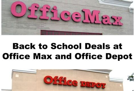 office depot coupons mommy saves big back to school deals at office max and office depot