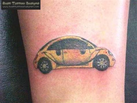 automotive tattoo volkswagon beetle tattoo for the vw enthusiast