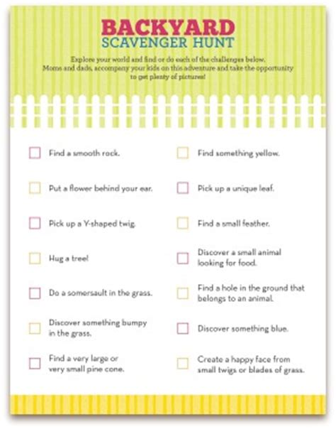 Backyard Scavenger Hunt Ideas Backyard Scavenger Hunt For Backyard Scavenger Hunt For Scavenger Hunt Pinterest