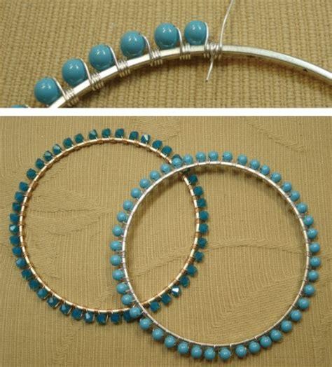 baubles bangles and diy bead studded bangle nunn design