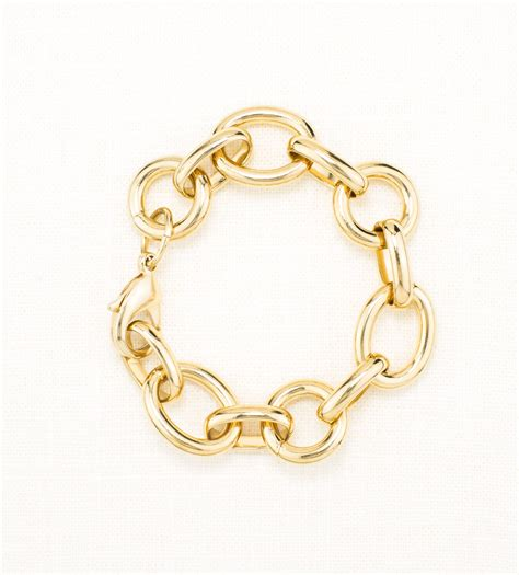 gold chunky anchor chain bracelet michael jewelry