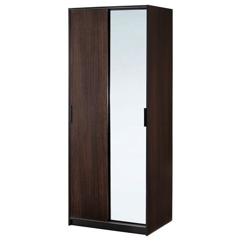 ikea armoire with mirror trysil wardrobe w sliding doors 4 drawers white 118x61x202