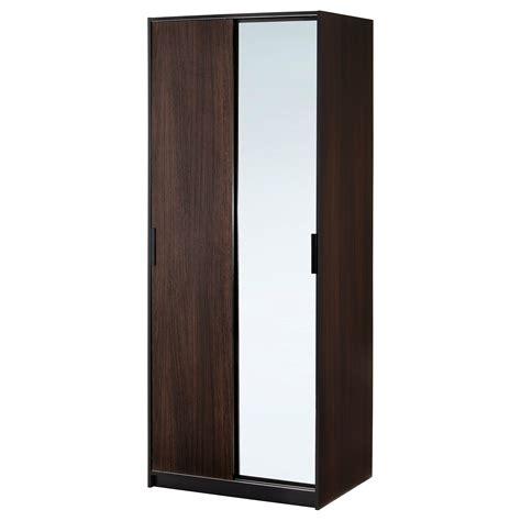 TRYSIL Wardrobe w sliding doors/4 drawers White 118x61x202