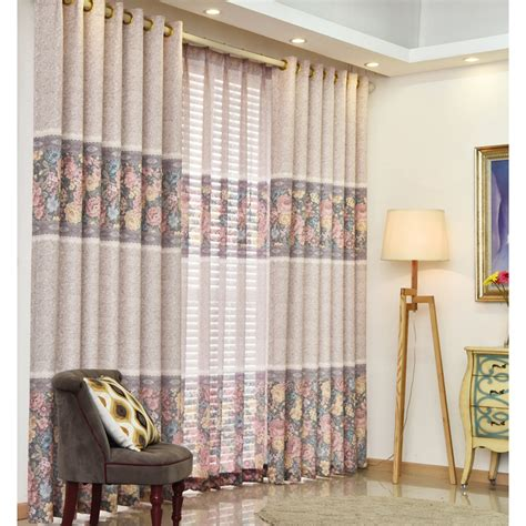 country bedroom curtains pink floral print linen cotton blend country bedroom curtains