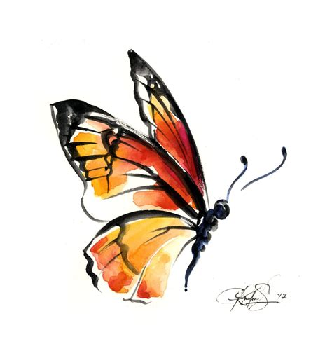 watercolor butterfly tattoo watercolor monarch butterfly photoshop clipart