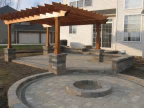 Pergola With Fire Pit by Outdoor Room With Firepit And Pergola