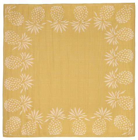pineapple rug terrace pineapple rug yellow 94 quot x94 quot tropical outdoor rugs by transocean