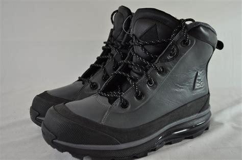 nike air max conquer acg watershield mens boot nike air max conquer acg 472493 010 black grey