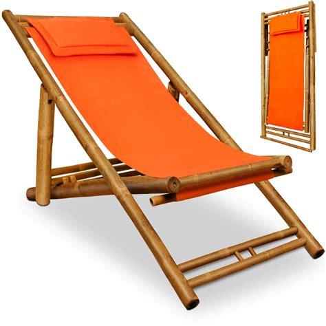 deck chairs wooden deck chair bamboo headrest sun lounger garden