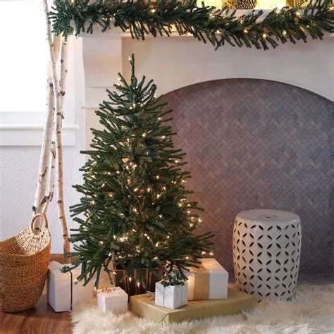 4 or 5 ftrustic christmas trees finley home 4 ft delicate pine slim pre lit tree trees at hayneedle