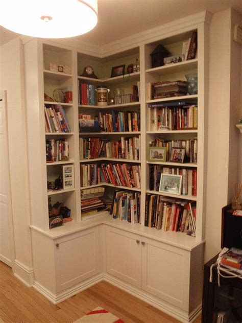 25 best ideas about corner bookshelves on