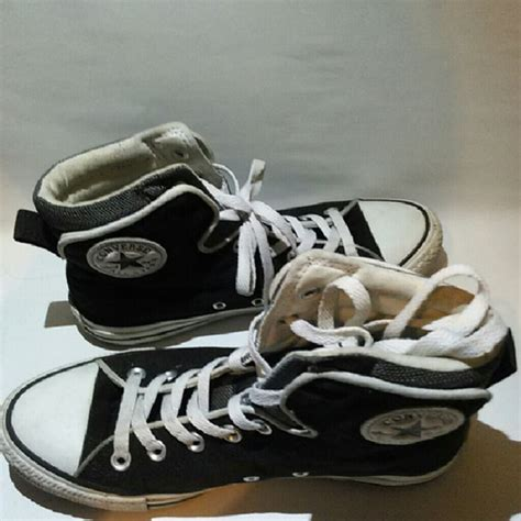 Converse All Navy Grey Black 55 converse shoes black white and gray high top