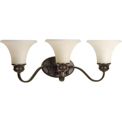 Commercial Electric 3 Light Rustic Iron Vanity Light With Antique Ivory Glass Shade Ess1313 by Commercial Electric 3 Light Rustic Iron Vanity Light With Antique Ivory Glass Shade Ess1313