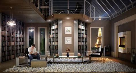 modern home library 15 inspirational home libraries apartment geeks