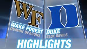 Wake forest vs duke 2014 15 acc mens