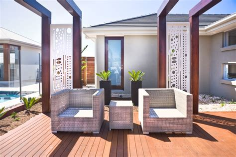 Patio Designs Melbourne Laser Cut Metal Screens Contemporary Patio Melbourne By Landscape And Architectural